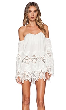 STONE_COLD_FOX x REVOLVE Marrakech Dress in White Georgia Lace