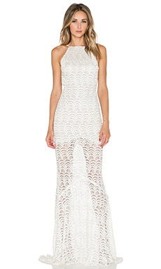 STONE_COLD_FOX Logan Gown in White