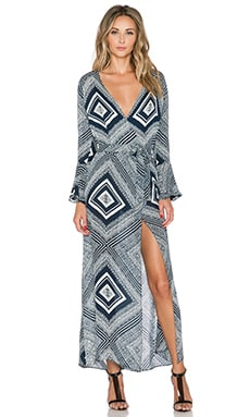 STONE_COLD_FOX Sunset Robe in Alva Print
