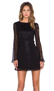 STONE_COLD_FOX Duboce Dress in Black Lace