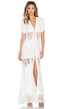 STONE_COLD_FOX Octavia Gown in White Lace