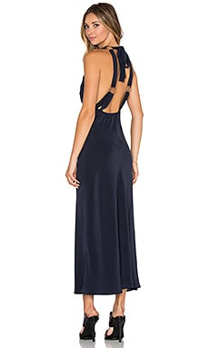 STONE_COLD_FOX Sutter Gown in Navy Silk