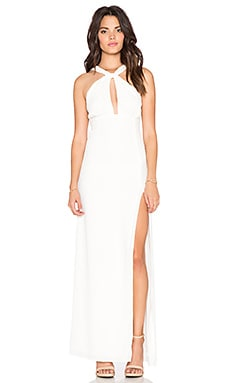 STONE_COLD_FOX Palms Gown in White