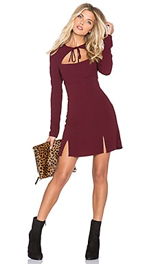 STONE_COLD_FOX Derek Dress in Oxblood