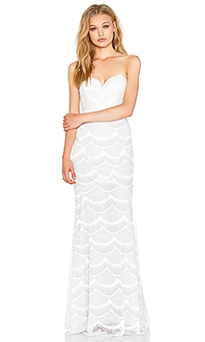 STONE_COLD_FOX Market Gown in White Lace