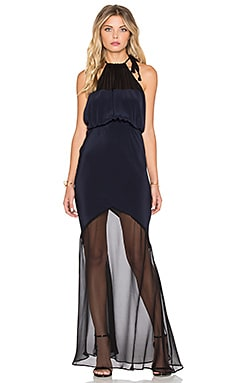 STONE_COLD_FOX Aquarius Gown in Navy & Black