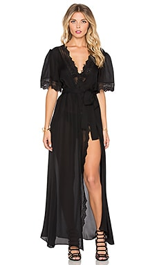 STONE_COLD_FOX Leo Robe Dress in Black