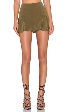 STONE_COLD_FOX Haight Short in Olive Green Silk