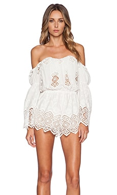 STONE_COLD_FOX Aden Romper in White