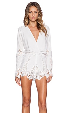 x REVOLVE Te Amo Jumper in White Marrakech Lace