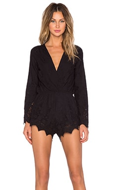 STONE_COLD_FOX Locals Romper in Black