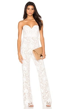 STONE_COLD_FOX Asher Jumpsuit in White Lace