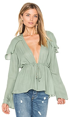 Schiffer Blouse en Sea Green