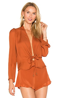 Medici Blouse in Burnt Orange