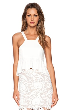 STONE_COLD_FOX Liam Crop Top in White