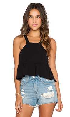 STONE_COLD_FOX Liam Crop Top in Black