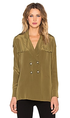 STONE_COLD_FOX Webster Blouse in Olive Green