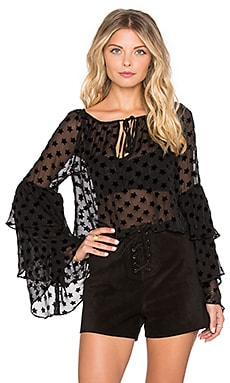 STONE_COLD_FOX Taurus Blouse in Black Star