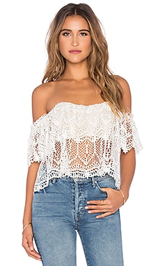 STONE_COLD_FOX Moroccan Holy Tube Top in Ivory