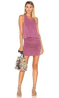 Slub Sleeveless Dress in Pigment Sienna