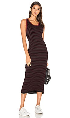 Fitted Midi Dress in Merlot