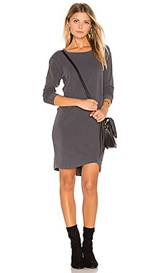 Asymmetrical Slub Spandex Dress