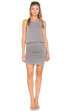 Ruched Tank Dress in Pigment Olive