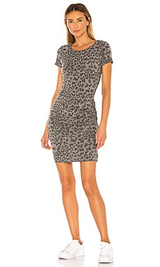Leopard Print Ruched Dress SUNDRY $100