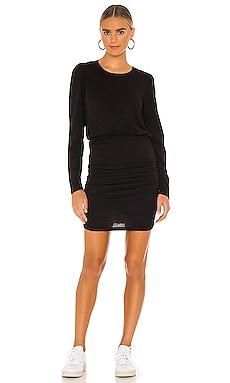 Puff Sleeve Shirred Dress SUNDRY $158 NEW