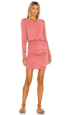 Puff Sleeve Shirred Dress SUNDRY $158