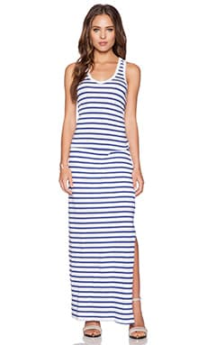 SUNDRY Striped Tank Maxi Dress in White