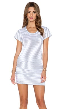 SUNDRY Pocket Mini Dress in White
