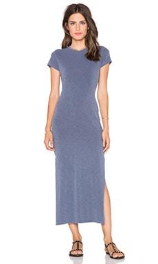 SUNDRY Slit Tee Dress in Midnight Pigment