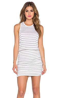 SUNDRY Stripe Sleeveless Dress in Seashell