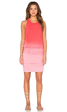 SUNDRY Ombre Sleeveless Dress in Hibiscus