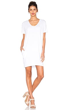 SUNDRY T-Shirt Dress in White