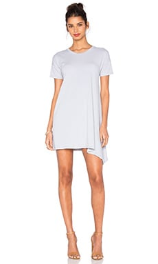 SUNDRY Asymmetrical Dress in Silver