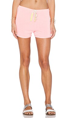 SUNDRY Drawstring Short in Neon Heat