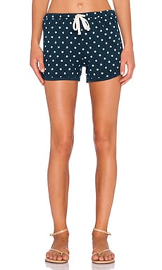 SUNDRY Polka Dot Drawstring Short in Storm