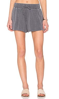 Slub Spandex Shorts in Pigment Charcoal