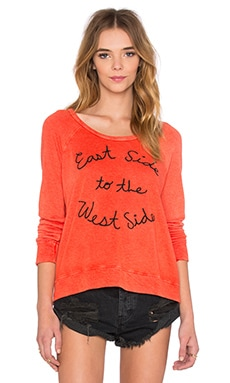 SUNDRY East Side Crop Pullover in Tomato