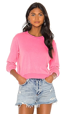 Crop Blouson Sweatshirt SUNDRY $98 BEST SELLER