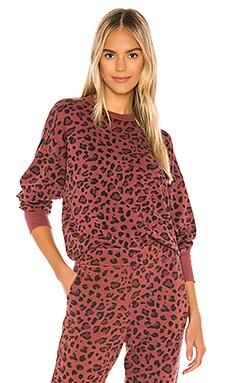 Leopard Drapey Crew Neck Sweatshirt SUNDRY $106