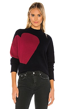 Big Heart & Star Turtleneck Sweater SUNDRY $164