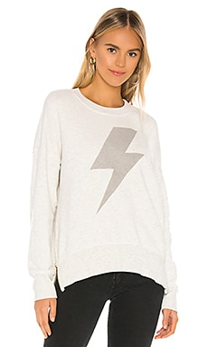 Lightning Bolt Double Zip Oversized Sweatshirt SUNDRY $169