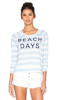 SUNDRY Beach Days Sweater in Blue & White Stripe