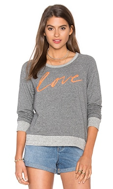 SUNDRY Love Pullover in Heather Grey