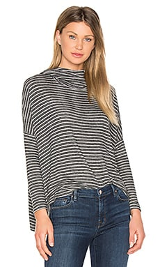 Drapey Pullover en Heather Grey Stripe