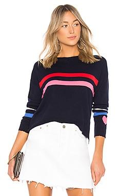 Stripes + Heart Cashmere Blend Crew Neck SUNDRY $198 NEW ARRIVAL