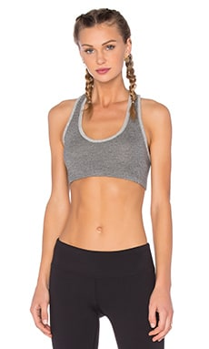 SUNDRY Sports Top in Heather Grey